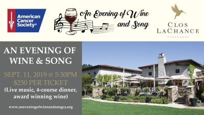 American Cancer Society Fundraising Event - An Evening of Wine and Song