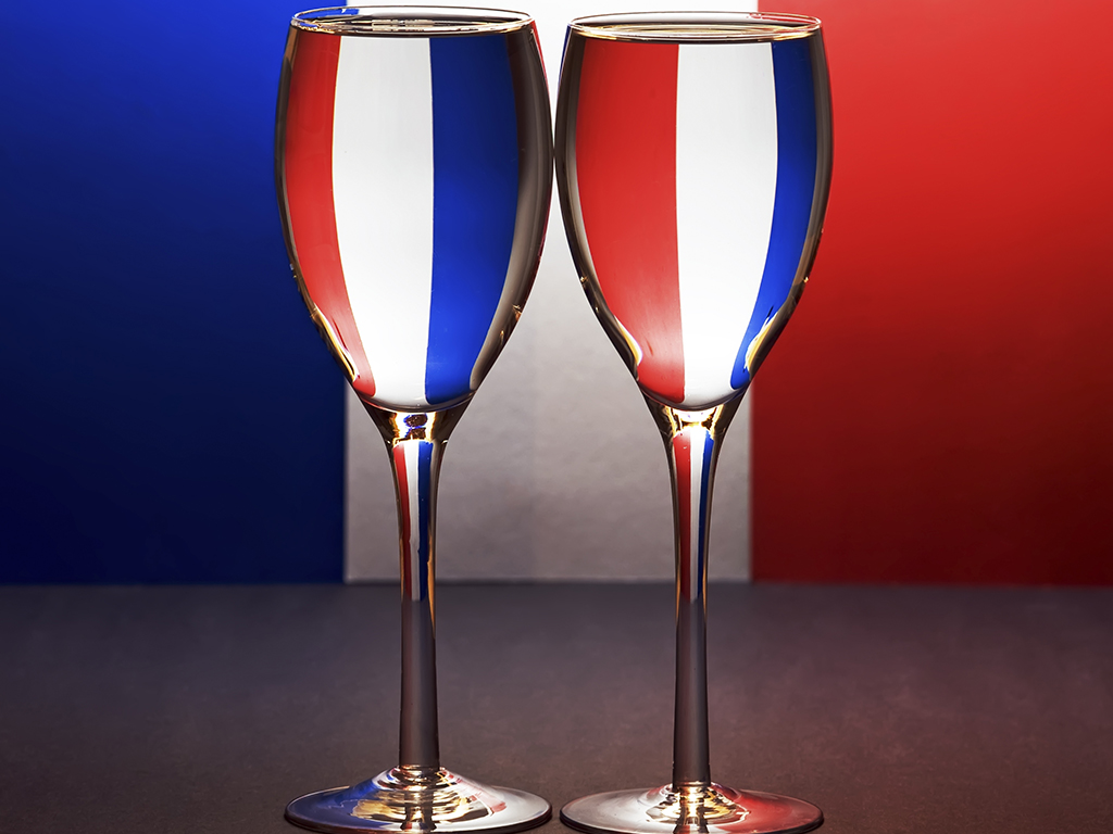 French Wine List - Wine Glasses