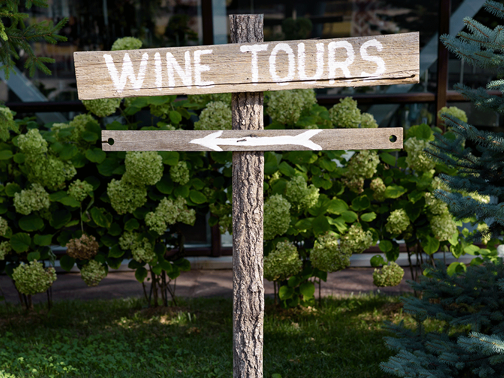 Winery Tours in North Carolina - Sign