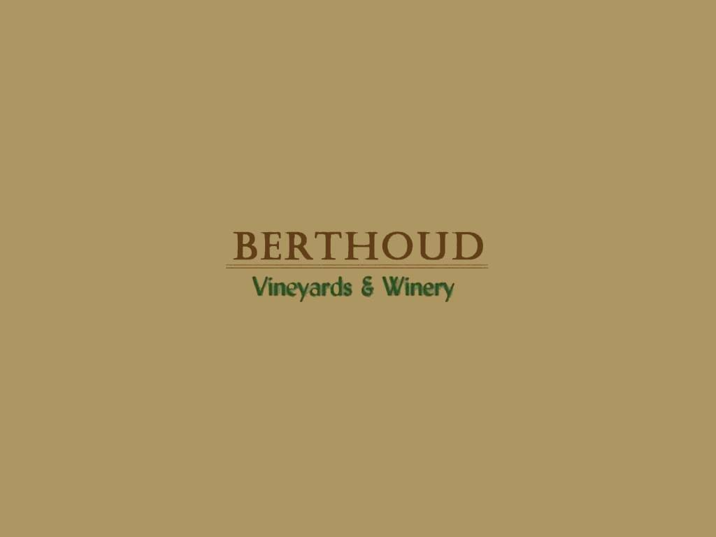 Berthoud Vineyards & Winery