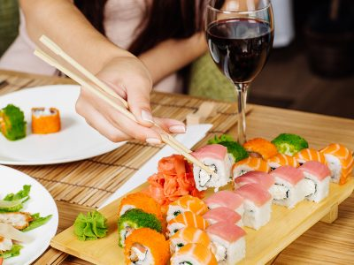 WHICH WINE GOES WITH SUSHI?
