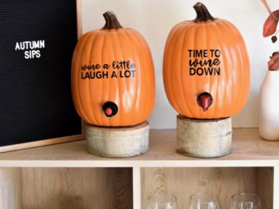 DIY PUMPKIN WINE DISPENSER
